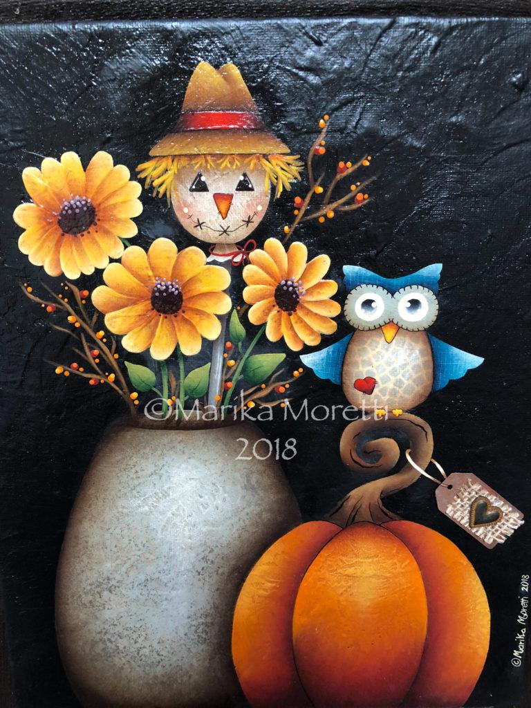Pittura Country: pittura su tela per l'autunno
