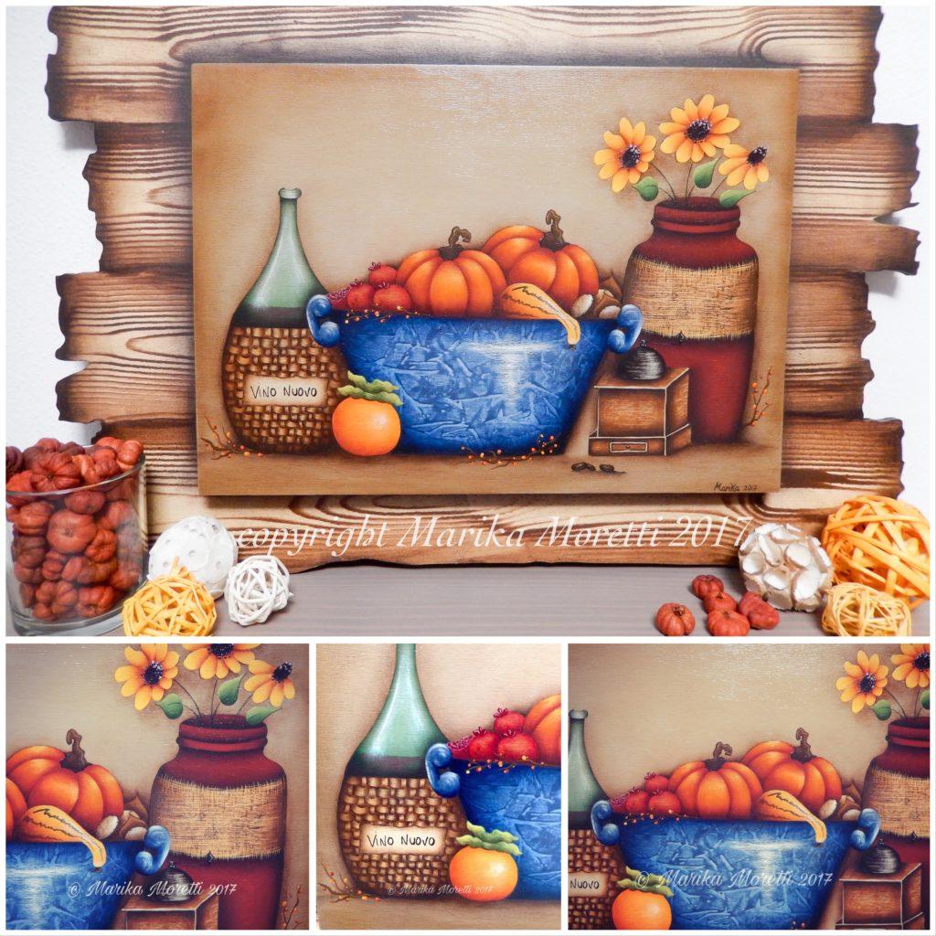 Pittura Country: progetto autunno su legno
