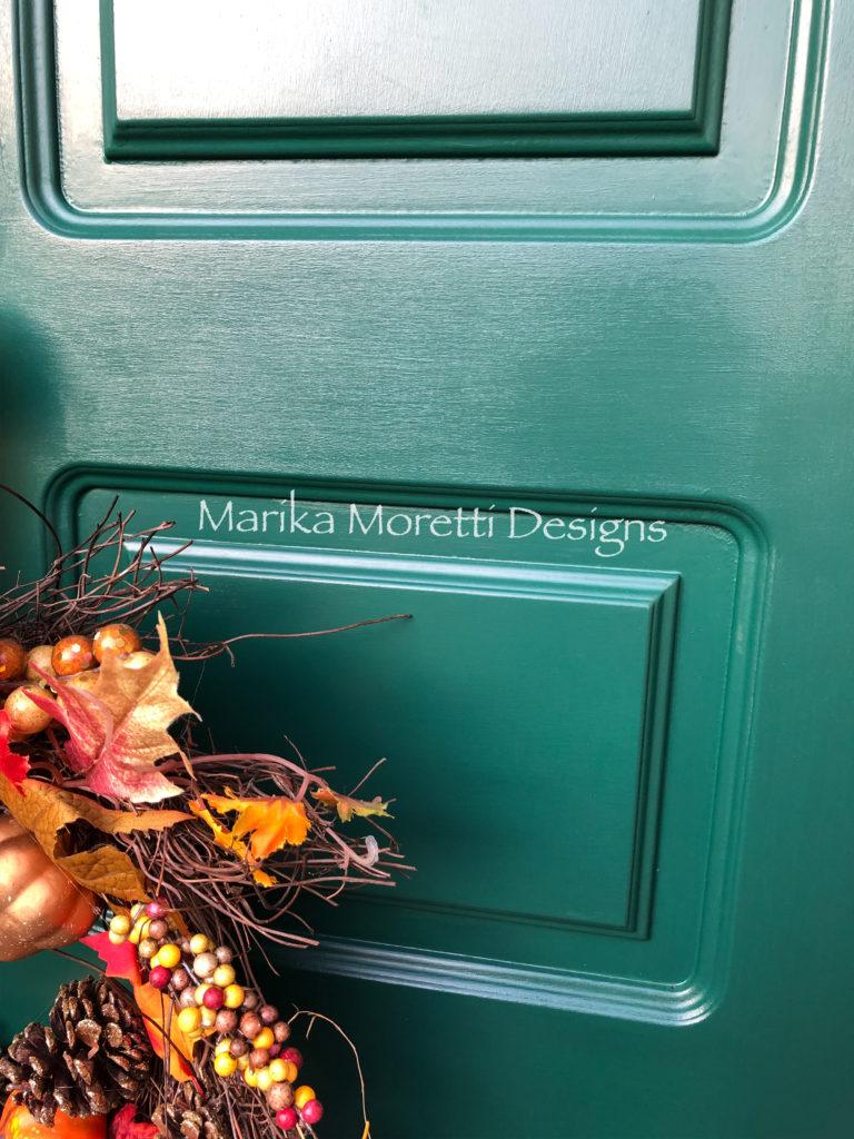 Dipingere la porta di casa: dettaglio