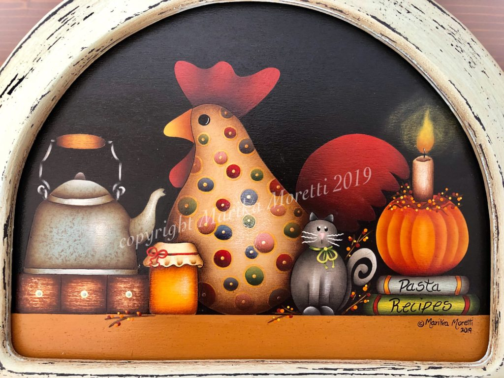 Decorative Painting: folkart decoration to warm up your fall