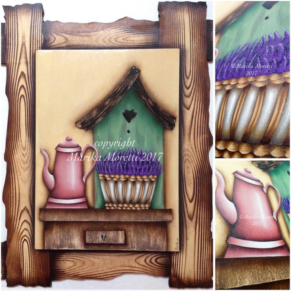 Pittura Country: pittura su legno con fiori per decorare la tua casa