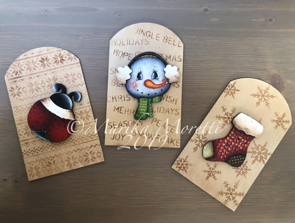Decorative painting: Christmas ornaments