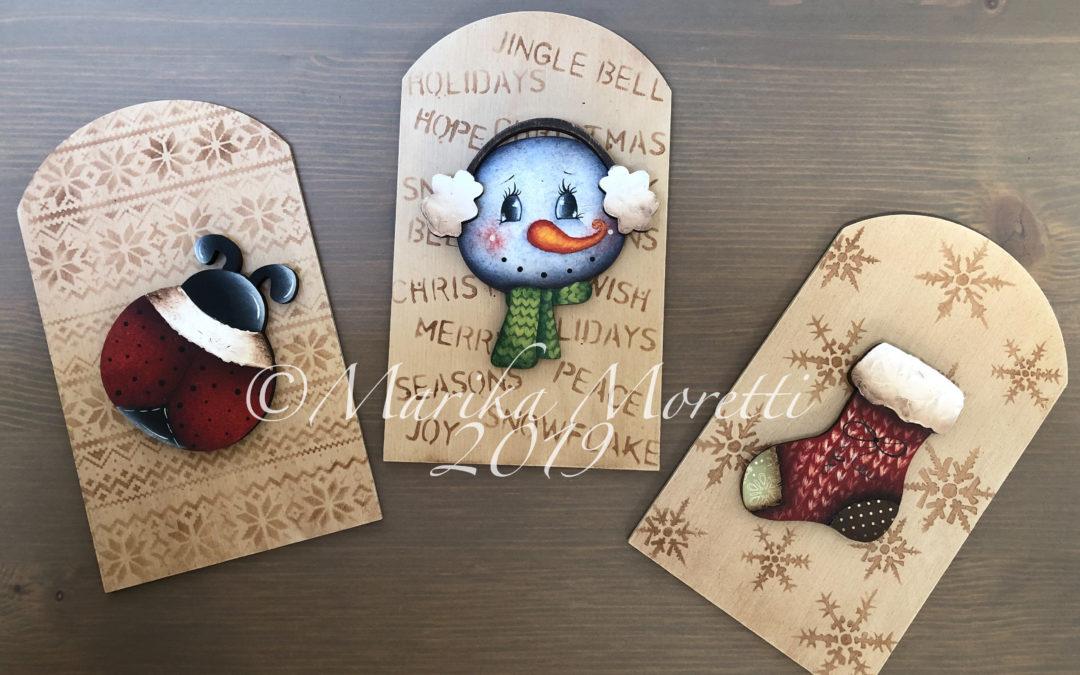 Winter trio tags
