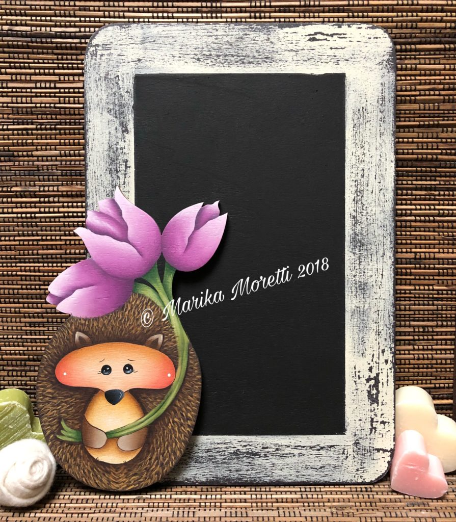 Pittura Country: Write on me: sweet Camillo è un progetto semplice per realizzare una lavagnetta in legno