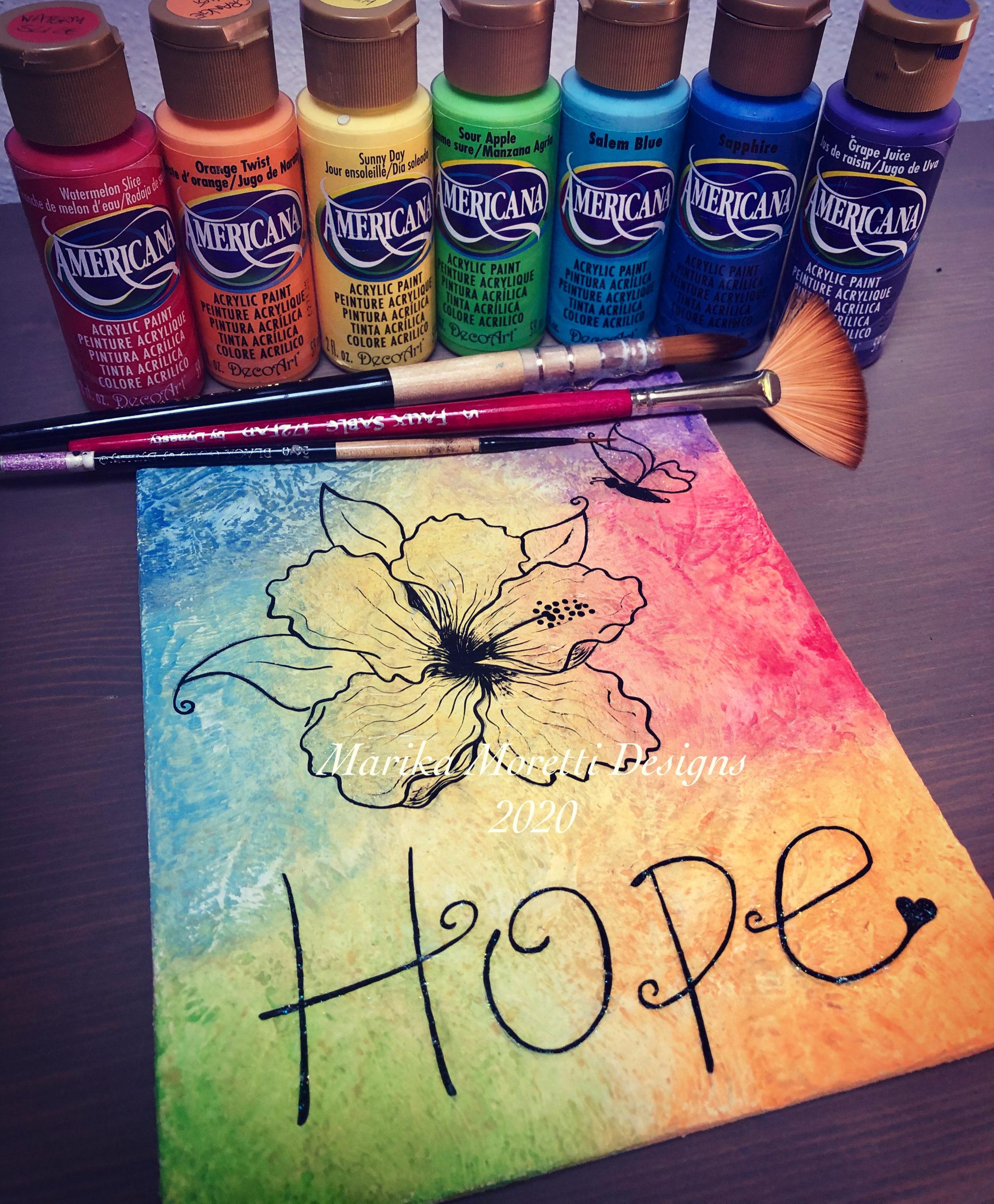 Dipingere su tela con colori acrilici