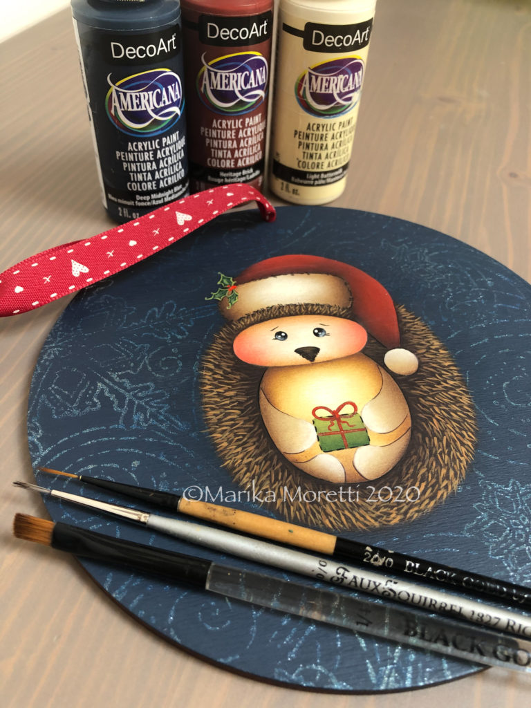 Christmas ornaments with Decorative Painting
