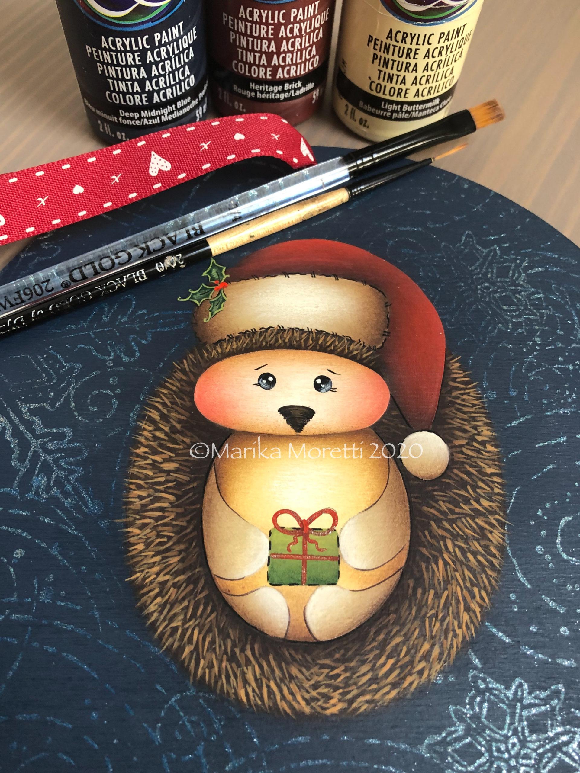 Decorazione di Natale in stile Country Painting