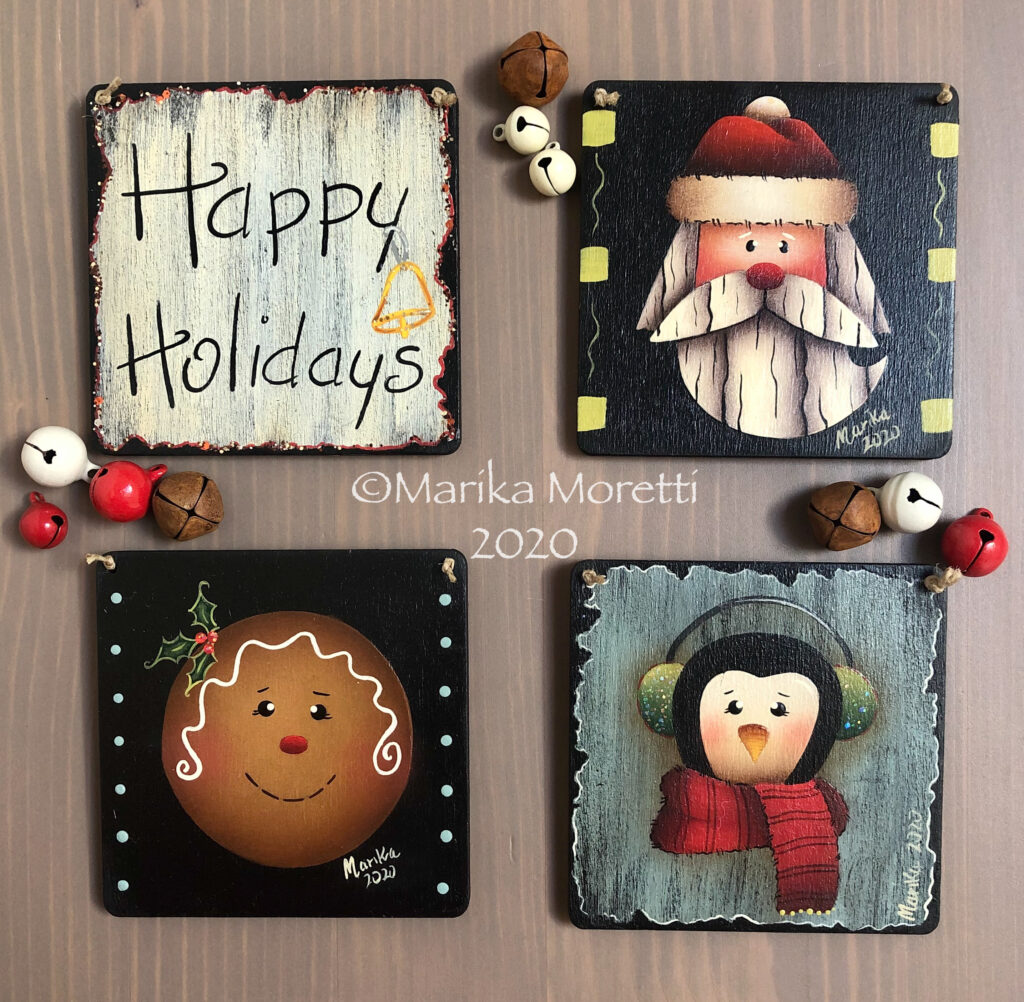 Decorazioni Country Painting Natale
