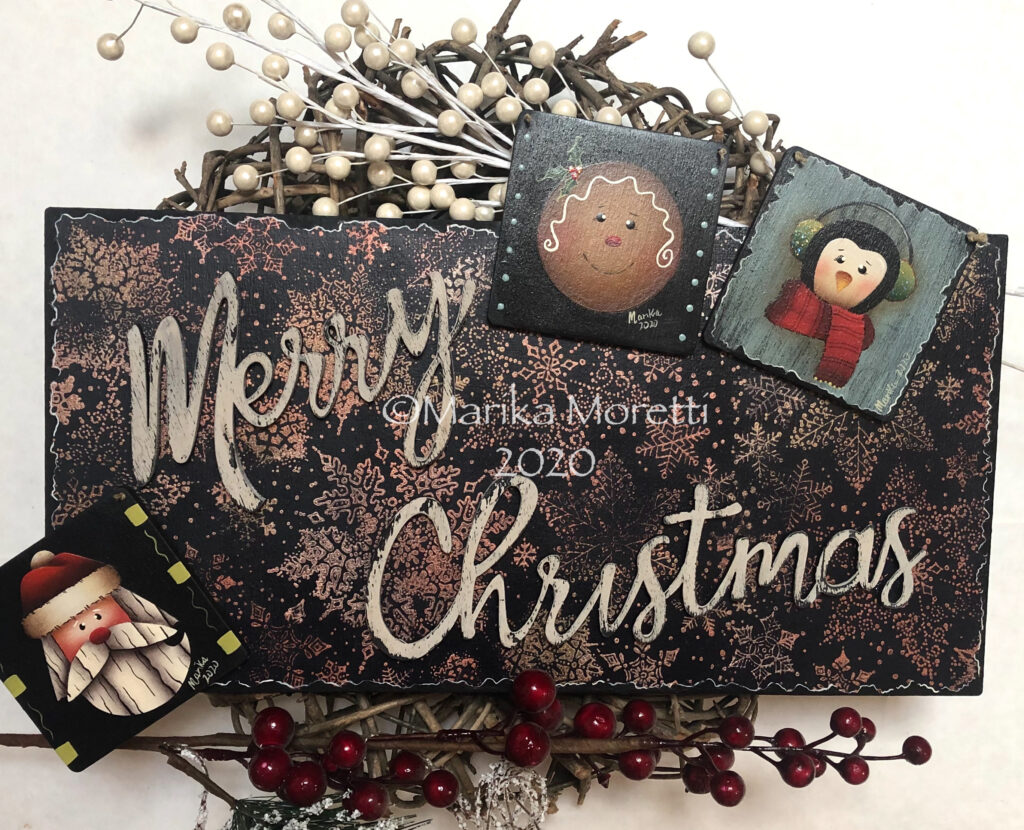 Decorazione Country Painting Natale