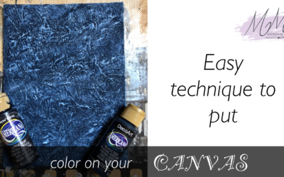 Decorative Painting Tutorial: creating interesting backgrounds for your canvas