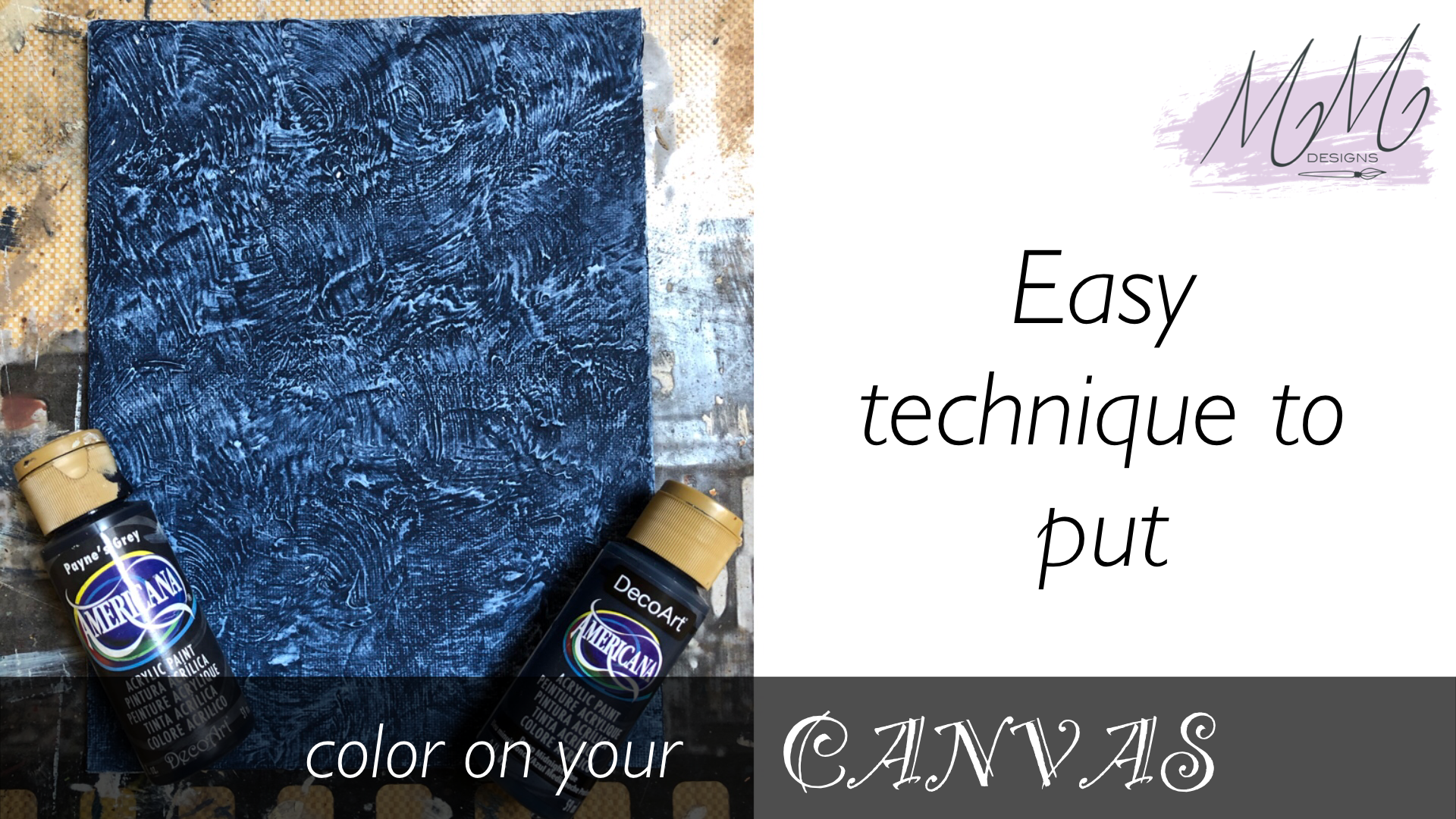 Decorative Painting Tutorial: interesting backgrounds for your canvas