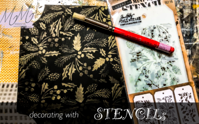 Decorative Painting tutorial: easy decorations with stencils